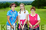 Maire Ní Loinsigh, Jemma Key Jnr Captain and Emma Daly vice Captain at the Presidents day in Killorglin Golf Course on Saturday