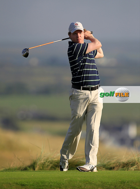 Thomas Neenan (Lahinch) on the 2nd tee during the South of Ireland Amateur Open Championship First Round at Lahinch Golf Club  27th July 2013 <br /> Picture:  Thos Caffrey / www.golffile.ie