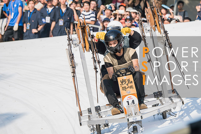 Team 戰馬特攻隊  in action during the Red Bull Soapbox Race 2017 Taipei at Multipurpose Gymnasium National Taiwan Sport University on 01 October 2017, in Taipei, Taiwan. Photo by Victor Fraile / Power Sport Images