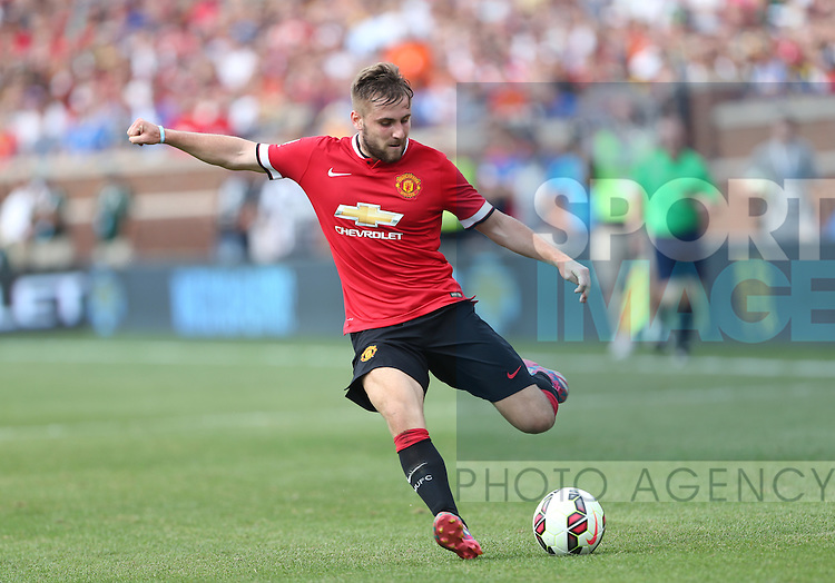 Luke Shaw of Manchester United - International Champions Cup 2014 - Manchester United vs Real Madrid - Michigan Stadium - Ann Arbor - USA - 2nd August 2014 - Picture David Klein/Sportimage