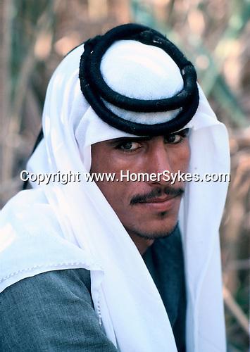 Marsh Arabs. Southern Iraq. Circa 1985. Marsh Arab man. Haur al Mamar or Haur al-Hamar marsh collectively known now as Hammar marshes Irag 1984