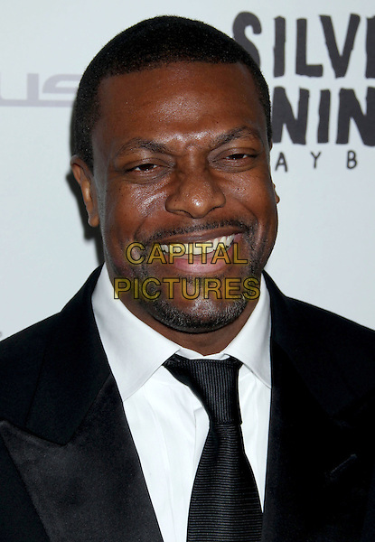 "Chris Tucker.""Silver Linings Playbook"" - Los Angeles Special Screening held at the Academy of Motion Picture Arts and Sciences Samuel Goldwyn Theater, Beverly Hills, California, USA..November 19th, 2012.headshot portrait black suit tie white shirt goatee facial hair smiling .CAP/ADM/RE.©Russ Elliot/AdMedia/Capital Pictures."