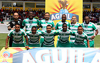 IPIALES - COLOMBIA, 27-02-2019: Los jugadores de La Equidad, posan para una foto, antes de partido entre Deportivo Pasto y La Equidad, de la fecha 7 por la Liga Aguila I 2019, jugado en el estadio Municipal de Ipiales de la ciudad de Ipiales /  Boyaca Chico F. C., pose for a photo, prior a match between Deportivo Pasto and La Equidad, of the 7th date for the Aguila Leguaje I 2019 at the Municipal de Ipiales stadium in Ipiales city. Photo: VizzorImage. / Leonardo Castro / Cont.