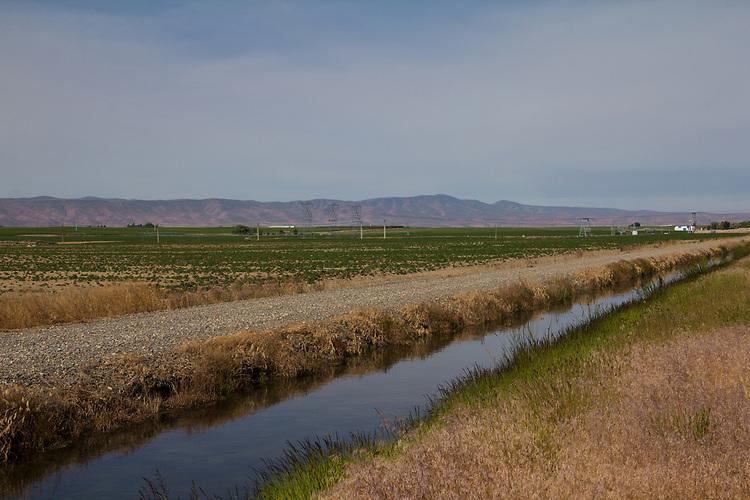 Wahluke Slope, new vineyards, irrigation canals, power systems, Eastern Washington, Washington State, Pacific Northwest, USA,