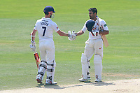 James Foster of Essex congratulates Ravi Bopara on his century during Essex CCC vs Warwickshire CCC, Specsavers County Championship Division 1 Cricket at The Cloudfm County Ground on 20th June 2017