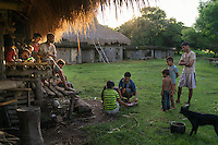 March 28, 2016 - Wainyapu (Indonesia). Peter's family prepares lunch before the beginning of the second Pasola hold in the nearby village of Waiha. Even if considered by manys as a training ahead of the big Pasola of Wainyapu, Waiha's festival is stills a good opportunity for the fighters to warm it up. © Thomas Cristofoletti / Ruom