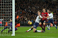 James Ward-Prowse of Southampton is denied by Hugo Lloris of Tottenham Hotspur during Tottenham Hotspur vs Southampton, Premier League Football at Wembley Stadium on 5th December 2018