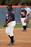 SAN ANTONIO, TX - APRIL 27, 2008: The Stephen F. Austin State University Ladyjacks vs. The University of Texas at San Antonio Roadrunners Softball at Roadrunner Field. (Photo by Jeff Huehn)