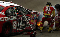 Nascar Nextel Cup driver Jeremy Mayfield after crashing in Miami 2004. Mandatory Credit: Mark J. Rebilas