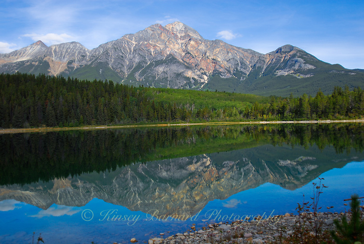 Patricia Mountain reflecting in Patricia Lake Jasper National Park Alberta Canada