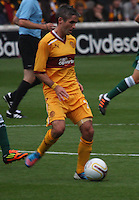 Keith Lasley in the Motherwell v Panathinaikos UEFA Champions League 3rd Qualifying Round 1st Leg match at Fir Park, Motherwell on 31.7.12.