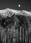Full Moon above San Francisco Peaks,Arizona
