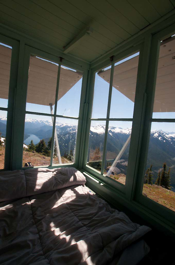 Fire Lookout, Desolation Peak, North Cascades National Park, Washington, US