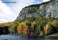 KN07-013a  Mt. Kineo on Moosehead Lake, Maine - autumn scene at base of mt.