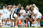 23 August 2015: North Carolina's Maya Worth (5) is introduced. The University of North Carolina Tar Heels played the Fresno State Bulldogs at Fetzer Field in Chapel Hill, NC in a 2015 NCAA Division I Women's Soccer game. UNC won the game 7-0.