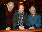 Sr. Phil, Sr. Rita and Sr. Breege pictured at the Seminary Christmas concert in St Peter's Church.