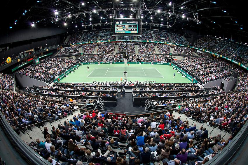 18-02-12, Netherlands,Tennis, Rotterdam, ABNAMRO WTT, Roger Federer tegen Nikolay Davydenko