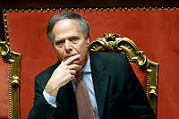 Minister of Foreign Affairs Enzo Moavero Milanesi<br /> Rome December 19th 2018. Senate. Speech of the Italian Premier about the results of the negotiation with the European Union about the  budget plan.<br /> Foto Samantha Zucchi Insidefoto
