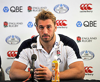Twickenham, England. Chris Robshaw of England Captain during captains run and media session for the QBE Internationals England v New Zealand at Twickenham Stadium on December 01. Twickenham, England, 2012