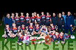 Ballyheigue/Causeway minors celebrate their win over Abbeydorney in the Credit Union sponsored Minor League Division 1A Final last Friday night in Abbeydorney.