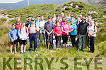 Some of the 150 pilgrims who climbed to the top of Cnoc na dTobar on Sunday for the annual pilgrimage with mass at the summit by Canon Larry Kelly.