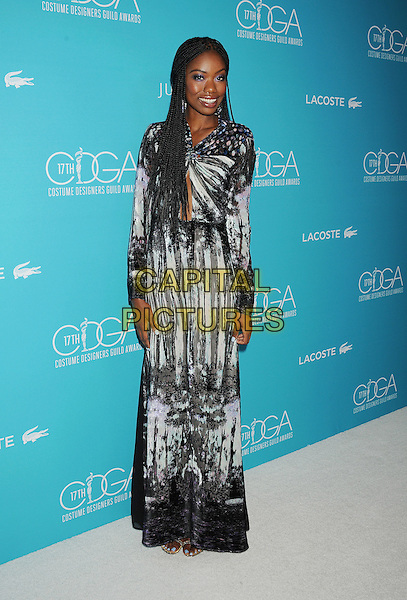 BEVERLY HILLS, CA - FEBRUARY 17: Actress Xosha Roquemore attends the 17th Costume Designers Guild Awards at The Beverly Hilton Hotel on February 17, 2015 in Beverly Hills, California.<br /> CAP/ROT/TM<br /> &copy;TM/ROT/Capital Pictures
