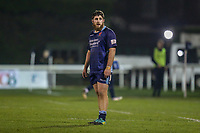 Phil CRINGLE of London Scottish as he wins his 50th cap for the club during the Championship Cup match between London Scottish Football Club and Ealing Trailfinders at Richmond Athletic Ground, Richmond, United Kingdom on 23 November 2018. Photo by David Horn/PRiME Media Images