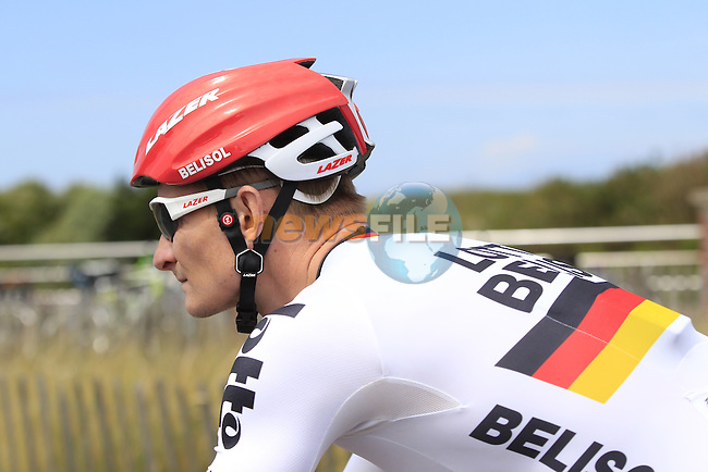 Andre Greipel (GER) Lotto-Belisol in Le Touquet for the start of Stage 4 of the 2014 Tour de France running 163.5km from Le Touquet to Lille. 8th July 2014.<br /> Picture: Eoin Clarke www.newsfile.ie