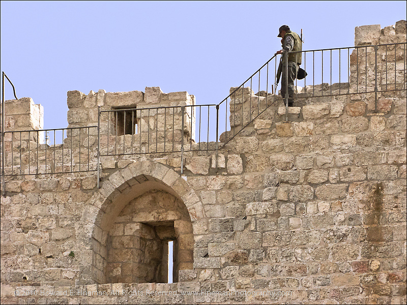 Patrolling Wall of Old Jerusalem