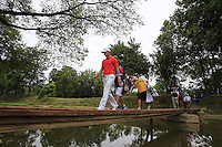 Martin Kaymer (GER) crosses the footbridge from the 9th tee during Thursday's Round 1 of the 2014 PGA Championship held at the Valhalla Club, Louisville, Kentucky.: Picture Eoin Clarke, www.golffile.ie: 7th August 2014