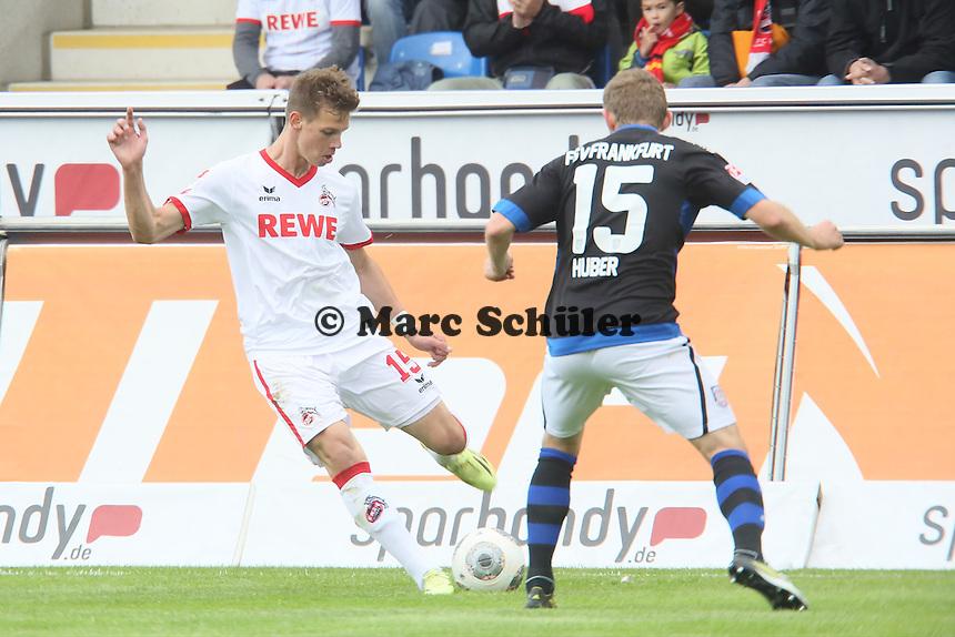 Maxi Thiel (Koeln) gegen Alexander Huber (FSV) - FSV Frankfurt vs. 1. FC Koeln, Frankfurter Volksbank Stadion
