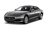 2018 Maserati Quattroporte S 4 Door Sedan angular front stock photos of front three quarter view