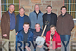 Lispole musicians and singers who competed in Scor Sinseair in Keel Community Centre on Sunday front row l-r: James Devane, John Joe Doran, Risteard Mac Aoin. Back row: Matthew Griffin, John O'Mahony, Donnacha O'Sullivan, Michea?l Griffin and Fergal Griffin.