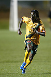 27 March 2004: Galaxy rookie Joseph Ngwenya presses the attack late in the first half. Los Angeles Galaxy defeated the Kansas City Wizards 1-0 at SAS Stadium in Cary, NC in the final preseason game for both Major League Soccer teams as part of the Cary Pro Kickoff Invitational tournament..