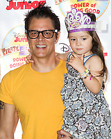 PASADENA, CA, USA - AUGUST 16: Johnny Knoxville, Madison Clapp at the Disney Junior's 'Pirate And Princess: Power Of Doing Good' Tour held at Brookside Park on August 16, 2014 in Pasadena, California, United States. (Photo by Celebrity Monitor)