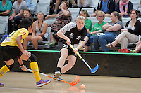New Zealand's Emma Molander in action during the World Floorball Championships 2017 Qualification for Asia Oceania Region - New Zealand v Malaysia at ASB Sports Centre , Wellington, New Zealand on Saturday 4 February 2017.<br /> Photo by Masanori Udagawa<br /> www.photowellington.photoshelter.com.