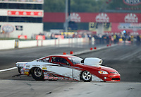 Aug. 31, 2012; Claremont, IN, USA: NHRA pro stock driver Steve Schmidt during qualifying for the US Nationals at Lucas Oil Raceway. Mandatory Credit: Mark J. Rebilas-