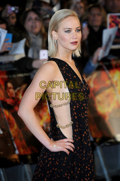 LONDON, ENGLAND - NOVEMBER 5: Jennifer Lawrence attends the UK Premiere of 'The Hunger Games: Mockingjay Part 2' at Odeon Leicester Square on November 5, 2015 in London, England.<br /> CAP/BEL<br /> &copy;Tom Belcher/Capital Pictures