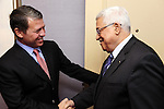 Palestinian President Mahmoud Abbas (Abu Mazen) meets with Jordan's King Abdullah II in Washington DC on August 31,2010. Photo by Omar Rashidi