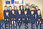 Pupils from Loughquittane NS on their first day of school on Monday front row l-r: Corey Walsh, Angeline Kenny, Isabelle Collins, Dara O'Connor, John O'Sullivan, Saoirse Moriarty. Back row: Oran Horgan, Jack O'Donoghue, Kate O'Leary, Isabelle Sweetman, Cian Scannell, Matthew Hegarty and Caolán Mitchell.