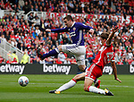 John Fleck of Sheffield Utd gets a shot away during the Championship match at the Riverside Stadium, Middlesbrough. Picture date: August 12th 2017. Picture credit should read: Simon Bellis/Sportimage