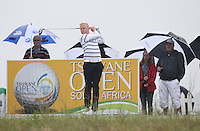 Simon Dyson (ENG) gets underway his Final Round of The Tshwane Open 2014 at the Els (Copperleaf) Golf Club, City of Tshwane, Pretoria, South Africa. Picture:  David Lloyd / www.golffile.ie