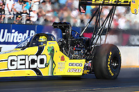 Jul. 26, 2013; Sonoma, CA, USA: NHRA top fuel dragster driver Morgan Lucas during qualifying for the Sonoma Nationals at Sonoma Raceway. Mandatory Credit: Mark J. Rebilas-