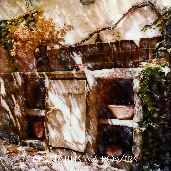 In Lourmarin Provence an outdoor kitchen ahead of its time and with real old world charm.<br />