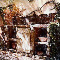 In Lourmarin Provence an outdoor kitchen ahead of its time and with real old world charm.<br /> <br /> -Limited Edition of 50 Prints