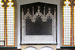 Inside village parish church of Saint Peter, Everleigh, Wiltshire, England 1813 memorial to Francis Dugdale Astley