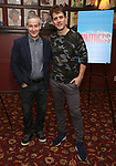 """Eddie Jamison and Joey McIntyre attend the photocall for Joey McIntyre and Eddie Jamison join the cast of Broadway's """"Waitress"""" at Sardi's on January 29, 2019 in New York City."""