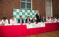 11-sept.-2013,Netherlands, Groningen,  Martini Plaza, Tennis, DavisCup Netherlands-Austria, Draw,   <br /> Photo: Henk Koster