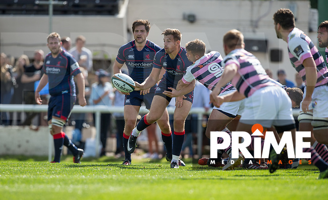 action during the Pre Season Friendly match between London Scottish Football Club and Cardiff Blues at Richmond Athletic Ground, Richmond, United Kingdom on 19 August 2017. Photo by Andy Rowland.