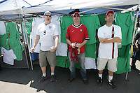 United States Men's National team fans seek some shade from the sun outside Azteca stadium before the game. The United States Men's National Team played Mexico in a CONCACAF World Cup Qualifier match at Azteca Stadium in, Mexico City, Mexico on Wednesday, August 12, 2009.